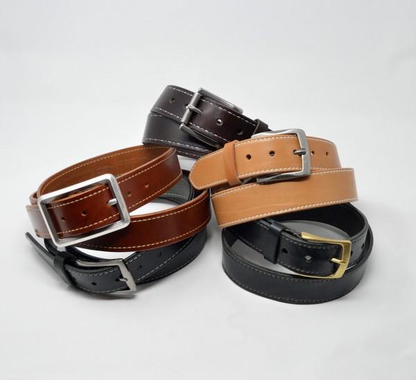 Classic Ledergürtel 40mm mit Ziernaht handgenäht