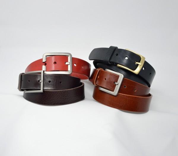 Classic Soft Ledergürtel 35mm ohne Ziernaht handgenäht
