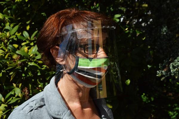 Corona Covid Gesichtsschild transparent
